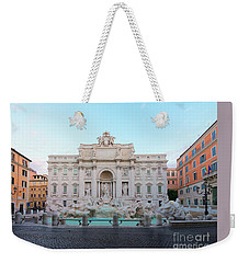 Fountain Di Trevi And Sunrise, Rome Weekender Tote Bag