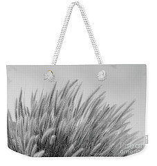 Foxtails On A Hill In Black And White Weekender Tote Bag