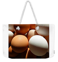 Weekender Tote Bag featuring the photograph Framed Eggs by Tina M Wenger