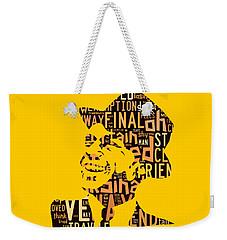Frank Sinatra I Did It My Way Weekender Tote Bag