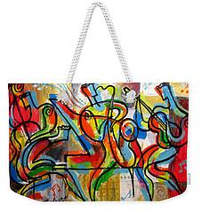 Free Jazz Weekender Tote Bag by Leon Zernitsky