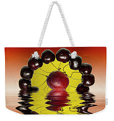 Fresh Cherries And Plums Weekender Tote Bag by David French