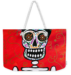 Frida Dia De Los Muertos Weekender Tote Bag by Pristine Cartera Turkus