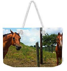Friendly Stallions Weekender Tote Bag