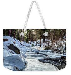 Frozen Creek Weekender Tote Bag