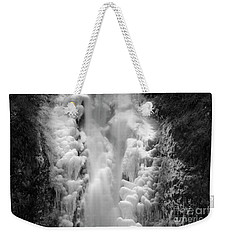 Frozen Multnomah Falls Weekender Tote Bag
