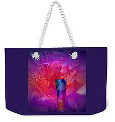 Weekender Tote Bag featuring the digital art Garden Vase by Iris Gelbart