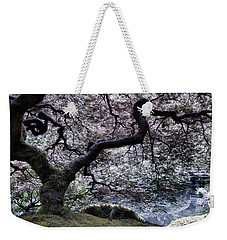 Garden View In Blue Weekender Tote Bag by Don Schwartz
