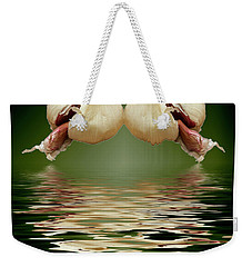 Weekender Tote Bag featuring the photograph Garlic Cloves Of Garlic by David French