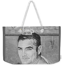 Weekender Tote Bag featuring the painting George Clooney by Jeepee Aero