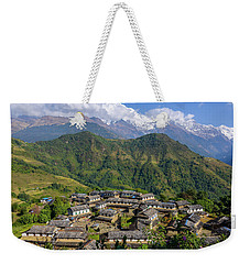 Ghandruk Village In The Annapurna Region Weekender Tote Bag