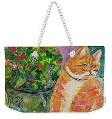 Ginger With Flowers Weekender Tote Bag
