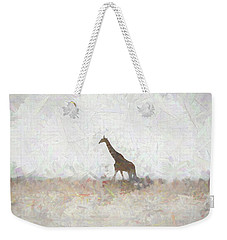 Weekender Tote Bag featuring the digital art Giraffe Abstract by Ernie Echols
