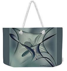 Weekender Tote Bag featuring the digital art Gliders 2 by Iris Gelbart