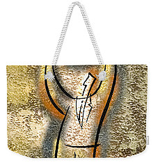 Weekender Tote Bag featuring the painting Globalization  by Leon Zernitsky