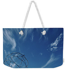Globe Symbol View  On Sky Background In Norway Weekender Tote Bag