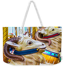Goat Carrousel Ride Weekender Tote Bag by Garry Gay