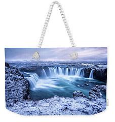 Godafoss Waterfall In Iceland Weekender Tote Bag by Joe Belanger