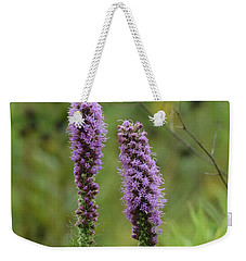 Weekender Tote Bag featuring the photograph Godfrey's Blazing Star by Maria Urso