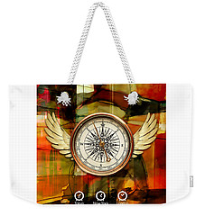 Weekender Tote Bag featuring the mixed media Going Somewhere by Marvin Blaine