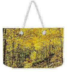 Golden Aspens In Colorado Mountains Weekender Tote Bag