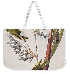 Golden-crested Wren Weekender Tote Bag by John James Audubon
