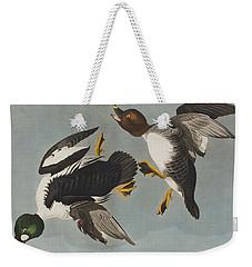 Golden-eye Duck  Weekender Tote Bag by John James Audubon