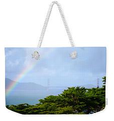 Golden Gate Bridge By Rainbow Weekender Tote Bag