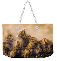 Weekender Tote Bag featuring the photograph Golden Glow by Ronald Santini