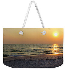 Golden Setting Sun Weekender Tote Bag