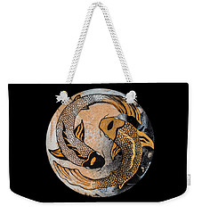 Golden Yin And Yang Weekender Tote Bag
