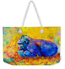 Gorilla Gorilla Weekender Tote Bag by Betty LaRue