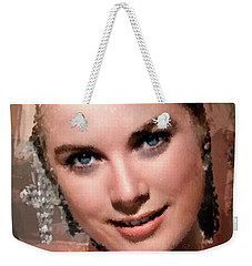 Grace Kelly, Vintage Hollywood Actress Weekender Tote Bag by Mary Bassett
