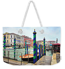Weekender Tote Bag featuring the photograph Grand Canal In Venice # 2 by Mel Steinhauer