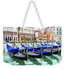 Weekender Tote Bag featuring the photograph Grand Canal In Venice by Mel Steinhauer