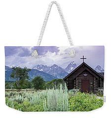 Grand Teton Church Weekender Tote Bag