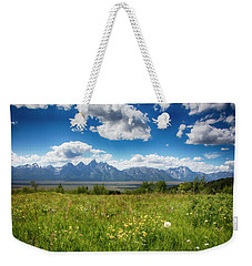Weekender Tote Bag featuring the photograph Grand Tetons by Hugh Smith