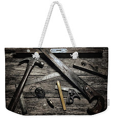 Weekender Tote Bag featuring the photograph Granddad's Tools by Mark Fuller