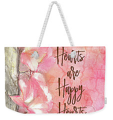 Grateful Hearts Weekender Tote Bag