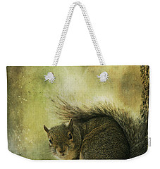 Gray Squirrel Weekender Tote Bag