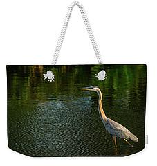 Great Blue Heron Delray Beach Florida Weekender Tote Bag