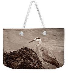 Great Blue Heron Weekender Tote Bag