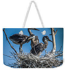 Great Blue Heron On Nest Weekender Tote Bag