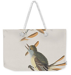 Great Crested Flycatcher Weekender Tote Bag by John James Audubon