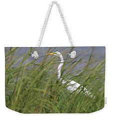 Great Egret Port Jefferson New York Weekender Tote Bag by Bob Savage