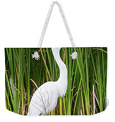 Great Egret Weekender Tote Bag by Ricky L Jones