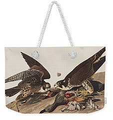 Great-footed Hawk Weekender Tote Bag by John James Audubon