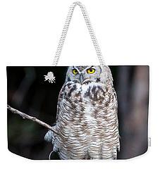 Great Horned Owl  Weekender Tote Bag by Jack Bell
