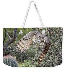 Great Horned Owl Weekender Tote Bag by Tam Ryan