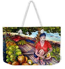 Green Coconut Cafe. Weekender Tote Bag